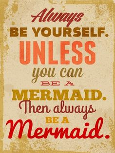Canvas Wall Artwork - Always be yourself unless you can be a mermaid Then always be a Mermaid from Earth Homewares