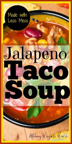 this recipe for taco soup is absolutely happening. I never thought about two of her tricks for this. Umazing !