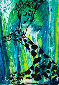 Giraffe Mother and Baby Greeting Card!  Check it out on Etsy: https://www.etsy.com/listing/215845806/mother-and-baby-giraffe-greeting-card?ref=shop_home_active_1