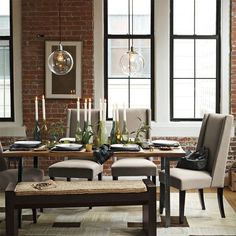 industrial dining table - seats 8