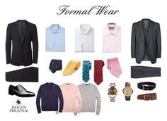 Men's formal wear capsule by el-pomelo on Polyvore featuring Armani Collezioni, Forsyth of Canada, Brooks Brothers, Tom Ford, Rolex, Emporio Armani, Yves Saint Laurent, Canali, Nordstrom and Florsheim