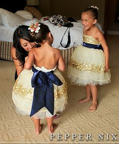 Nautical Flower Girl Dress/Ring Bearer Suit to go with Navy/Gold theme? HELP! :  wedding 12 1 4t 5t 6 1 flower girl dress gold nautical wedding navy blue ring bearer sparkle white GlamnavygoldFGs