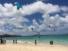 Kite-surfing is popular on Kailua Beach, but you can't beat the Oahu traffic with it!