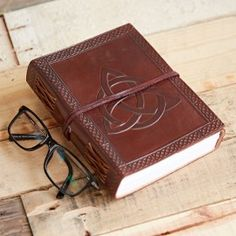 Celtic Symbols Leather Journal - Leather Journal - Leather Notebook - Leather Scrapbook - Recycled Paper - Writing Book - Gift For Writers Journal Paper, Book Journal, Leather Photo Albums, Leather Bound Journal, Leather Notebook, Leather Books, Writing Notebook, Celtic Symbols, Book Gifts