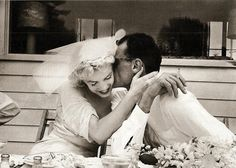 Marilyn and Arthur Miller on their wedding day July 1st 1956