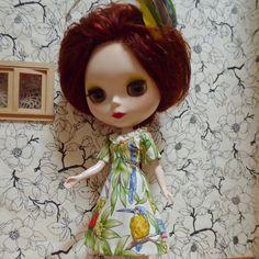Pretty Princess Line dress in native Australian birds print - for your BlytheStar by BlytheStar on Etsy