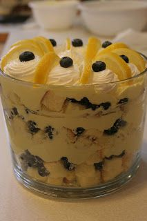 Lemon Blueberry Trifle...made one like this when selling Pampered Chef.  Delicious!