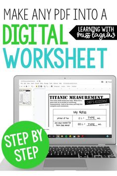 How to make a PDF document into an editible digital worksheet! This is amazing for online teaching and student engagement Teaching Technology, Educational Technology, Teaching Resources, Educational Crafts, Medical Technology, Teaching Strategies, Student Teaching, Writing Activities, Teaching Art