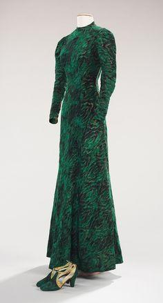 Evening ensemble, ca. 1938  Elsa Schiaparelli (Italian, 1890–1973); André Perugia (French, 1893–1977)