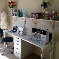 Desk/work station idea, via Mimi G