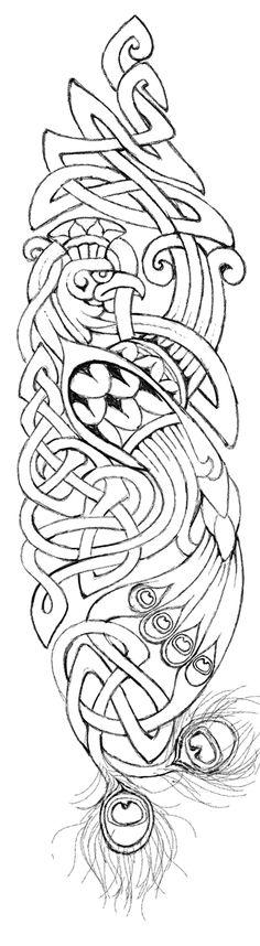 Celtic Peacock by metalsister.deviantart.com on @deviantART