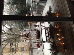 Mein Weihnachtsbalkon. Frankfurt am Main im Dezember.