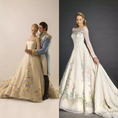 Real Picture White Ball Gown Cinderella Wedding Dresses 2015 Crew Neck Sheer Long Sleeves Embroidery Flowers A Line Sweep Train Bridal Gowns Wedding Dress Online Wedding Dress Patterns From Promotionspace, $305.53| Dhgate.Com