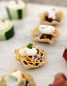 5 Budget-Friendly Appetizers - Mexican Cups by PartiesforPennies.com #appetizers #recipes #partyplanning