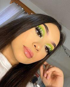 Fall Eye Makeup, Edgy Makeup, Makeup Eye Looks, Eye Makeup Art, Mua Makeup, Eyebrow Makeup, Green Makeup, Colorful Eye Makeup, Makeup Morphe