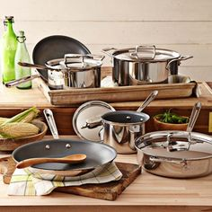 All-Clad d5 Stainless-Steel Nonstick 10-Piece Cookware Set #WilliamsSonoma... a girl can dream