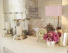 I'm a big fan of mosaic mirror tiles and use them a lot, especially on cupboard backs . evtl im Esszimmer-Bar-Bereich Mirror Mosaic, Mirror Tiles, Mosaic Tiles, Glass Tiles, Kitchen Mosaic, Mosaic Backsplash, Tiling, Feminine Bathroom, Mauve Bathroom