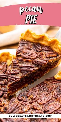 Pecan Pie is the ultimate holiday dessert, plus it's so easy to make! Don't be intimidated. Tips and Tricks to make it the best! #pie #recipe Homemade Pecan Pie, Best Pecan Pie, Pecan Pie Bars, Thanksgiving Desserts Easy, Holiday Desserts, Desserts For A Crowd, Easy Desserts, Pumpkin Cream Pie, Easy Pie Recipes