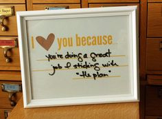 I Love You Because... photo frame
