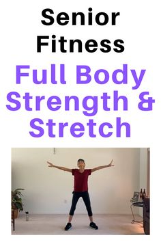 This full body strength and stretch routine for seniors will leave you feeling relaxed and energized Full Body Stretching Routine, Stretch Routine, Daily Exercise Routines, Stretching Exercises, Senior Fitness, Fitness Tips, Senior Workout, Free Fitness, Dance Fitness