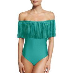 Off Shoulder Tassel Brazilian Bikini Swimsuit