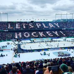 Is it October yet? MN Wild Stadium Series Hockey 2/21/2016.