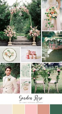 I have a romantic treat for you today! In the form of the most lovely garden wedding inspiration board in a pretty palette of soft pink and…
