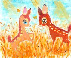 Bambi and Feline   Bambi and Feline by ~ Husky-Heart