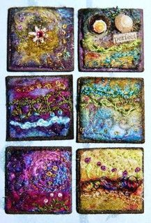Felted Inchies by lindavin58, via Flickr