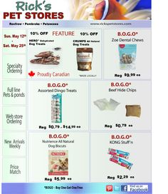 On for two weeks,  Great spring deals for your puppy's favorite treat! BOGO Buy One Get One Free!!