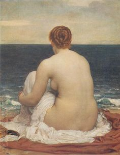 Psamathe c1879 By Frederick Lord Leighton - Oil Paintings & Art Reproductions - Reproduction Gallery