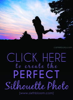 photography tips, how to take a silhouette picture, silhouette photography tips