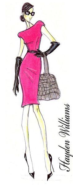 The Brunette Shake: Hayden Williams: Fashion Illustrator Fashion Prints, New Fashion, Trendy Fashion, Winter Fashion, Girl Fashion, Fashion Outfits, Fashion Design, Fashion Ideas, Floral Fashion