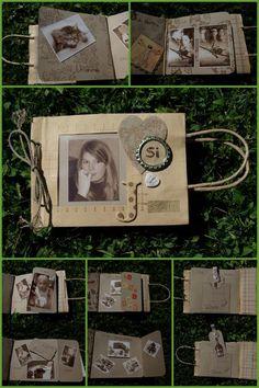 Mini album sac en papier