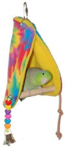 Super Bird Creations Peekaboo Perch Tent, 10 by 4.5-Inch, Small Bird Toy Super Bird Creations http://www.amazon.com/dp/B000OB2I82/ref=cm_sw_r_pi_dp_E3IEub061EVQ6