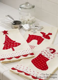 Christmas tea towels!