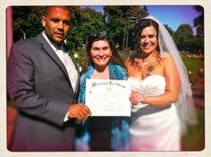 This sweet couple chose Peninsula Park Rose Garden for their wedding