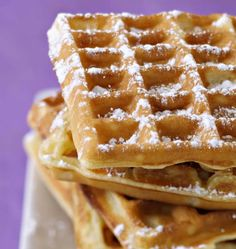 Waffles by Cyril Lignac - Ôdélices cooking recipes - Photo of the recipe: Cyril Lignac waffles - Chefs, Pancakes And Waffles, Love Food, Sweet Recipes, Food Porn, Food And Drink, Dessert Recipes, Lunch Recipes, Cooking Recipes