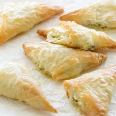 Layers of phyllo wrapped around a creamy sun-dried tomato and spinach filling.