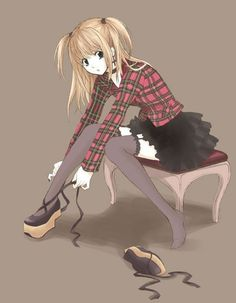 Misa putting on shoes