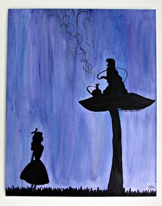 Whimsical Alice in Wonderland Painting