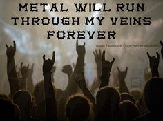 They cant stop us let them try For heavy metal we will dieee!