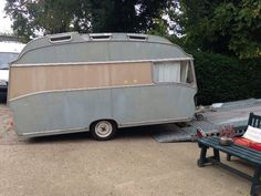 We are smiling today as we starting a new caravan project, a Classic 1966 Safari Caravan. #FridayFeeling #WorldSmileDay