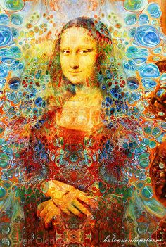 Even Oldridge - Mona Lisa after Leonardo Da Vinci by Energy Art Movement, via Flickr
