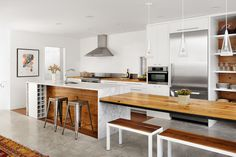 Alterstudio Architects, Austin TX love the modern and the wood combo...