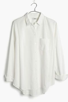 Low-Key Good Stuff You Can Actually Buy At Madewell #refinery29  http://www.refinery29.com/2016/07/117800/madewell-new-arrivals-favorite-styles#slide-7  Basically everyone needs an oversized button-up. Madewell Drapey Oversized Boyshirt in Pure White, $72, available at Madewell. ...