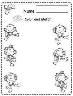 five little monkeys coloring pages Five Little Monkeys Coloring Page