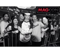 Cameron Dallas and Taylor Caniff at MAGCON.