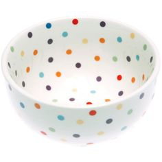 Dot & Bo All Day Bowl in Polka Dots ($14) ❤ liked on Polyvore featuring home, kitchen & dining, kitchen, food, accessories and home decor