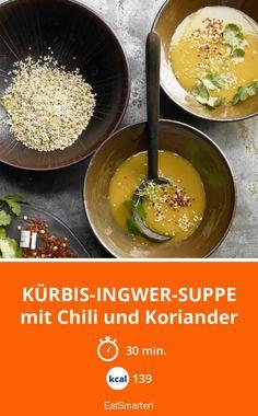 Kürbis-Ingwer-Suppe - mit Chili und Koriander - smarter - Kalorien: 139 kcal - Zeit: 30 Min. | eatsmarter.de